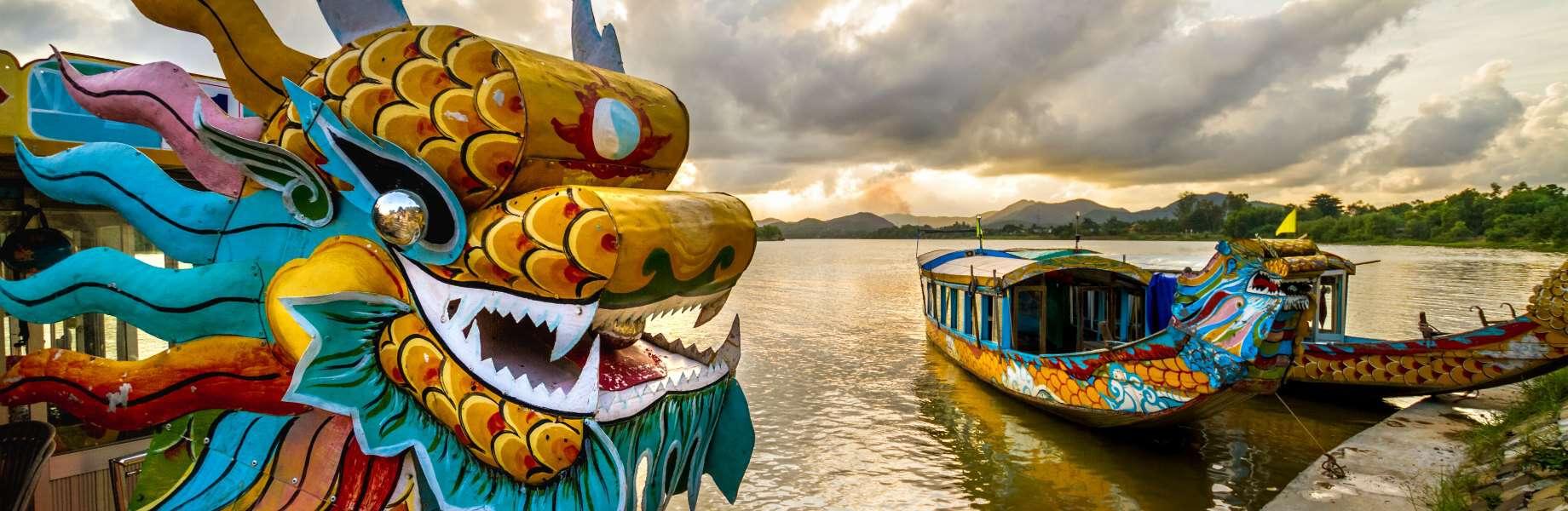 Explore Vietnam - Dragon Boat At Hue River