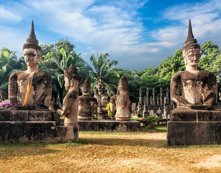 Wat Xieng Khuan Laos In Style